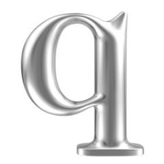 Aluminium font lorewcase letter q