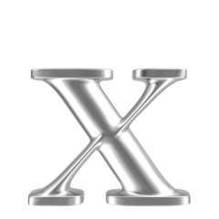 Aluminium font lorewcase letter x