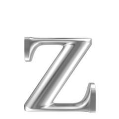 Aluminium font lorewcase letter z