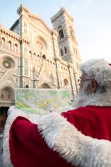 Babbo Natale a Firenze con mappa