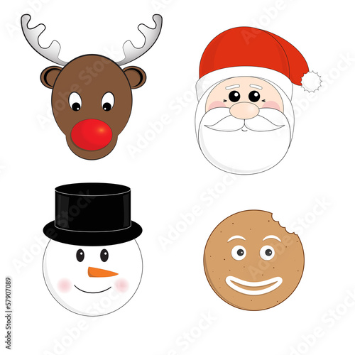 Christmas characters vector set