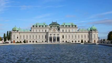 Belvedere palace exterior in Vienna, Austria