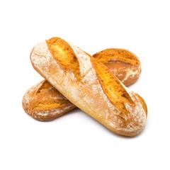 pane italiano in fondo bianco