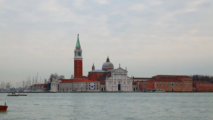 Overview of Grand Canal with Basilica Di San Giogio Maggiore