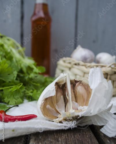 rustic cooking ingredients