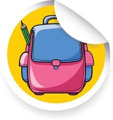 Наклейка с мультфильма школьный портфель