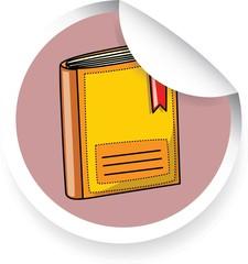 Наклейка с мультфильма книга