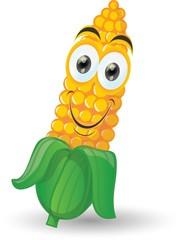 Кукурузы мультфильм улыбка