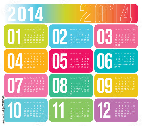 2014 Yearly Calendar Design