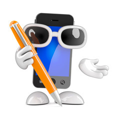 Smartphone with pen