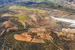 aerial of rural landscape nar Madrid