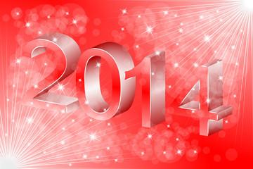 2014 i czerwone tło