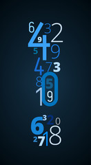 Exclamation mark, vector font from numbers