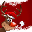 Rudolph Weihnachten Hintergrund Schneeflocken