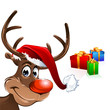 Rudolph Red Nose Reindeer with gifts