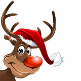 Rudolph with Christmas Hat