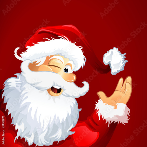 Santa red Christmas Background