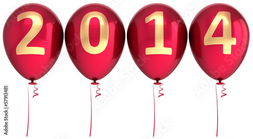 2014 New Year balloons party decoration