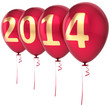 Happy New Year 2014 balloons party decoration