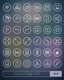 Vector thin icons design set. Ultra thin icons.Volume 04