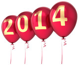 2014 New Year balloons party decoration red gold