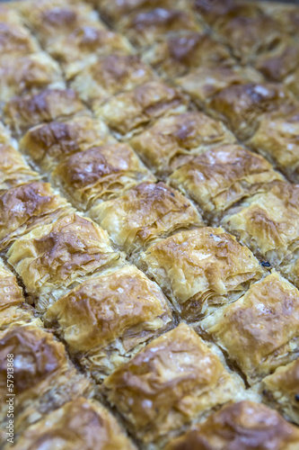 Macro view of baklava