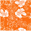 Vector seamless hibiscus flower background . Hawaiian patterns