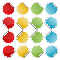 colorful bended stickers