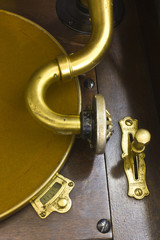 Vintage Phonograph Closeup With Turntable and Needle 6