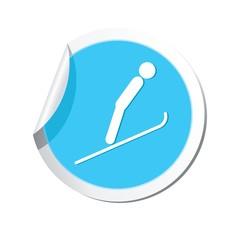 Ski springboard icon. Vector illustration