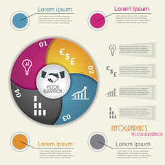 Modern infographic template, design for your business