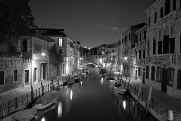 The Light of Venice Long exposure By Night.