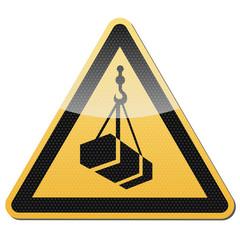 Warnung vor schwebender Last