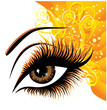 Art beautiful female eye. Vector illustration