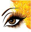 Art beautiful female eye. Vector illustration