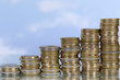 Münzen Diagramm Thema Wachstum