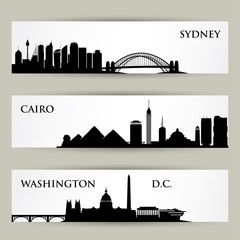City scapes banners