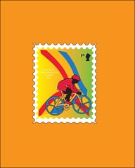 Post stamps collection Cycling