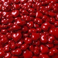 Jede Menge Herz, ein Haufen Herzen, roter Lack