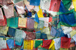 Praying flags at Buddhist monastery. India