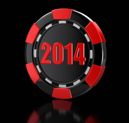 casino chip 2014 (clipping path included)