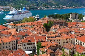 Old town of Kotor and Boka Kotorska bay