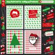 Christmas Set, Postcards, Christmas Elements