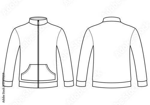Blank sweatshirt template - front and back