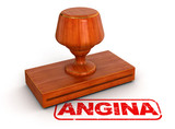 Rubber Stamp angina (clipping path included)