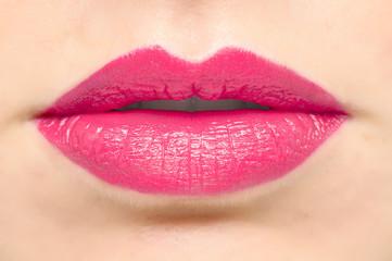 sexy rosa Lippen