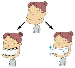 虫歯のある女性とない女性