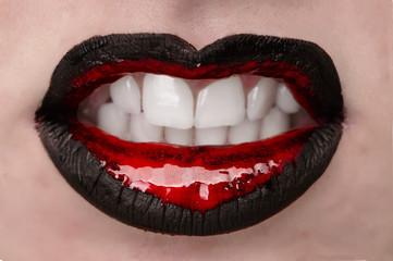 Sexy Lips Rot-Schwarz