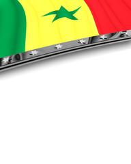 Designelement Flagge Senegal