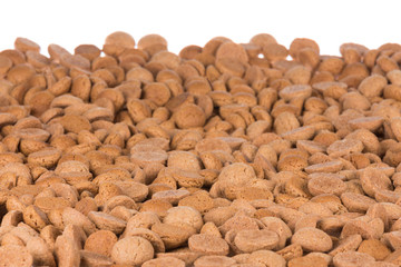 Background of brown ginger nuts, typical Dutch sweets